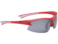 Очки спортивные BBB Impulse PC Smoke flash mirror  lens white tips red